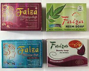 Faiza отбеливающие мыла для разных типов кожи